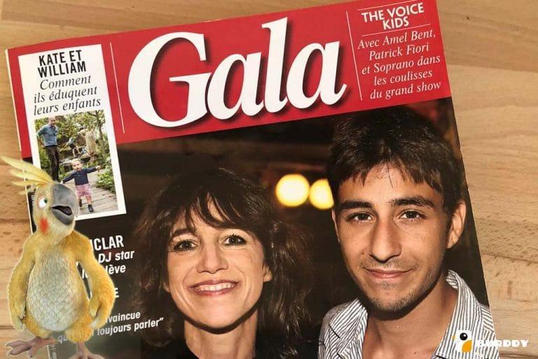 Le photobooth Burddy s'affiche dans le magazine Gala