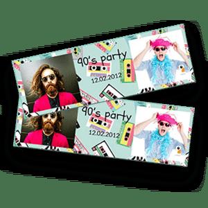 La borne photo Burddy permet d'imprimer un format bandelette horizontale