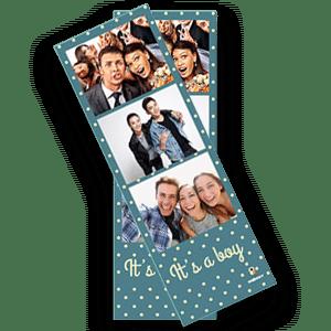 Le photobooth Burddy permet d'imprimer un format bandelette verticale