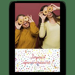 Avec notre photobooth, imprimez au format portrait