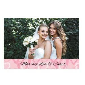 Een bruiloftfotolijst