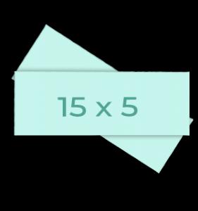 Fotoformaat horizontale stroken 5x15